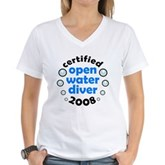 Open Water Diver 2008 Women's V-Neck T-Shirt