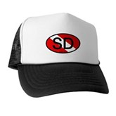 SD Oval Dive Flag Trucker Hat