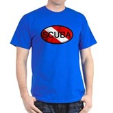 Scuba Oval Dive Flag Dark T-Shirt