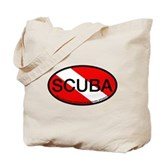 Scuba Oval Dive Flag Tote Bag