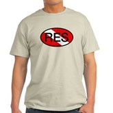 RES Oval Scuba Flag Light T-Shirt