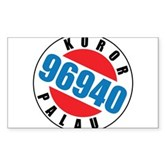 Koror Palau 96940 Rectangle Sticker