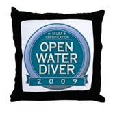 Open Water Diver 2009 Throw Pillow