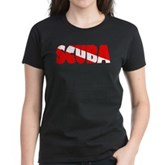 Scuba Text Flag Women's Dark T-Shirt