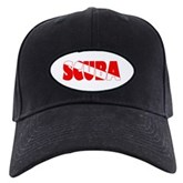 Scuba Text Flag Black Cap