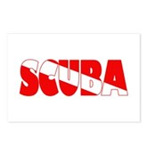 Scuba Text Flag Postcards (Package of 8)