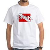 Pirate-style Diver Flag White T-Shirt