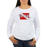 Pirate-style Diver Flag Women's Long Sleeve T-Shir