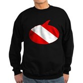 Text Bubble Dive Flag Sweatshirt (dark)