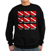 Dive Flags of the World Sweatshirt (dark)