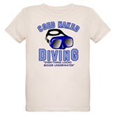Coed Naked Diving Organic Kids T-Shirt