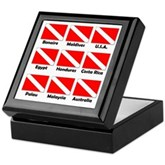Dive Flags of the World Keepsake Box