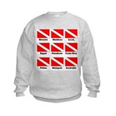 Dive Flags of the World Kids Sweatshirt