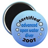 AOW Diver 2007 Magnet
