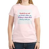 Diving with you Women's Pink T-Shirt